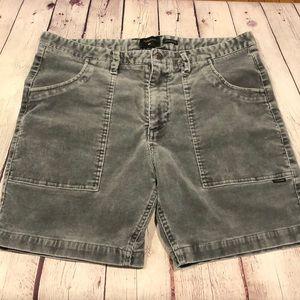 Quiksilver men's corduroy vintage style shorts